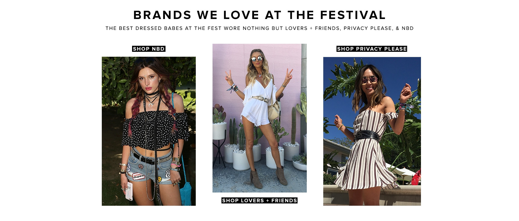 Brands We Love at the Festival
