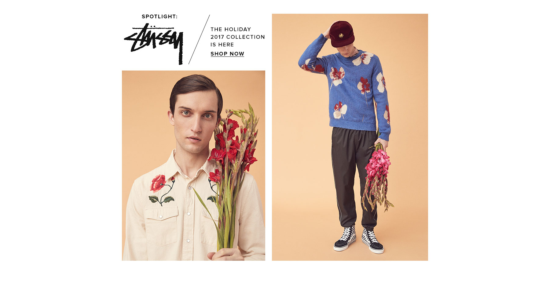 SPOTLIGHT: STUSSY. The Holiday 2017 collection is here. Shop now.
