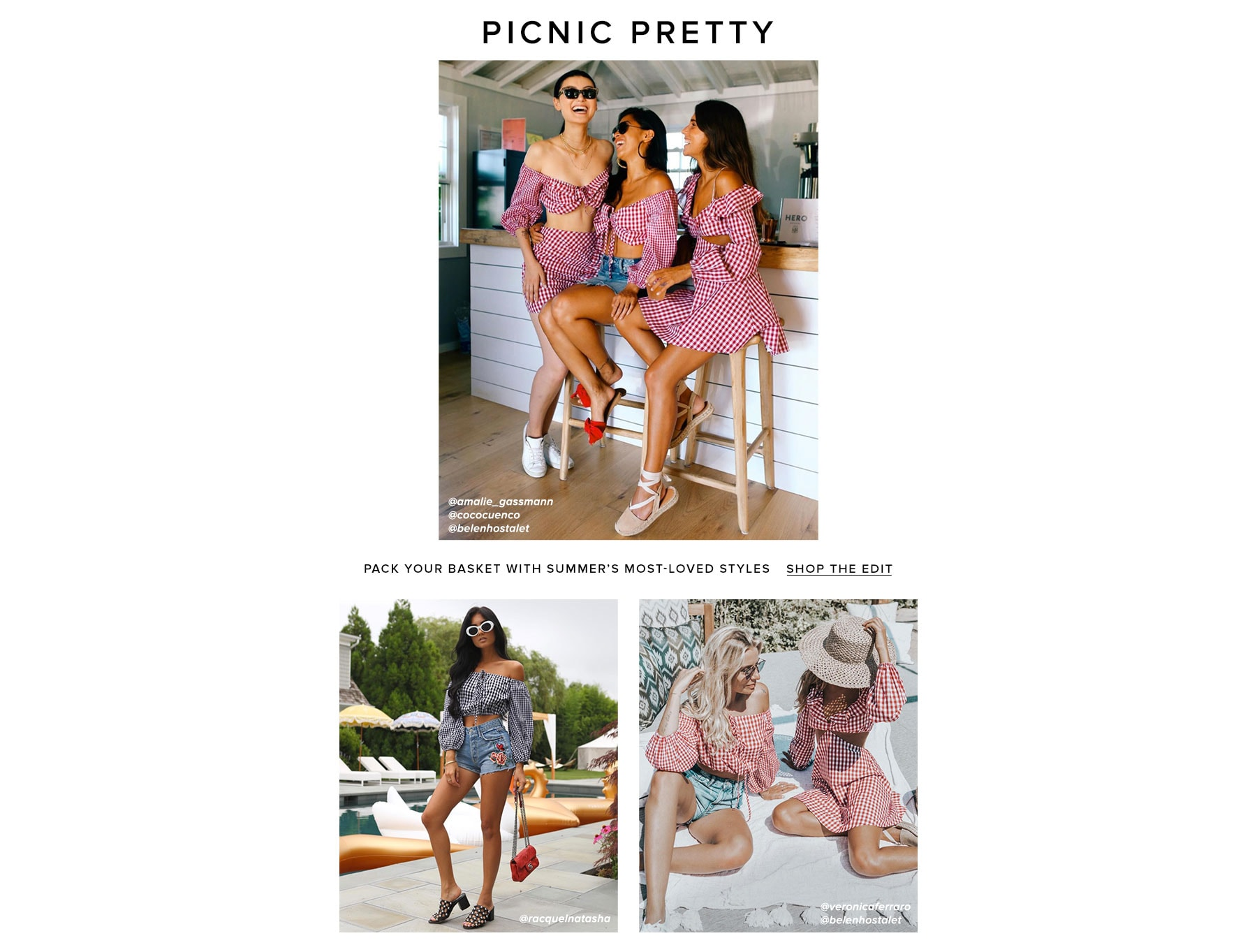 Picnic Pretty. Pack your basket with summer's most-loved styles. Shop the edit.