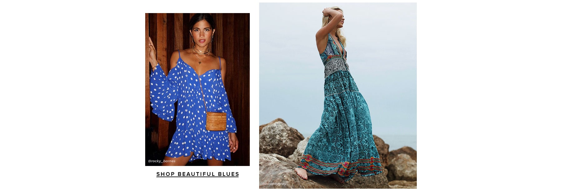 Beautiful Blues. Shop the color trend.
