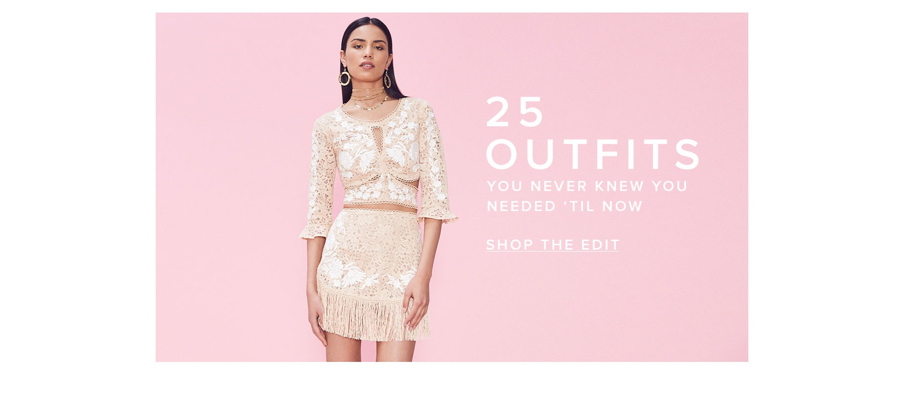 25 outfits you never knew you needed until now. Shop the edit.