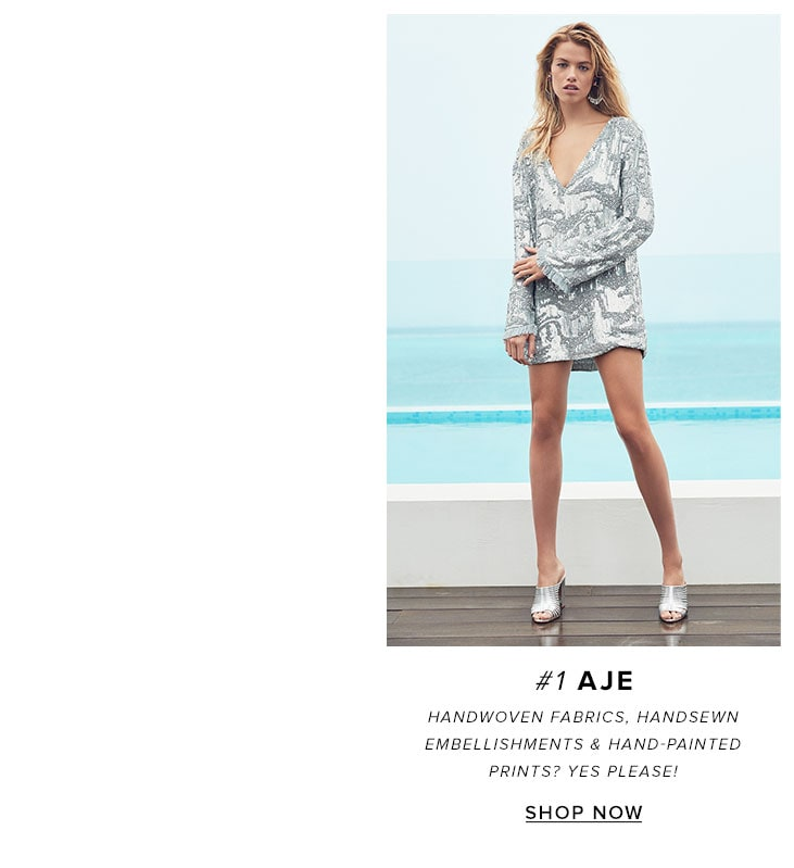 1Aje. Handwoven fabrics, handsewn embellishments & hand-painted prints? Yes please! Shop the brand.