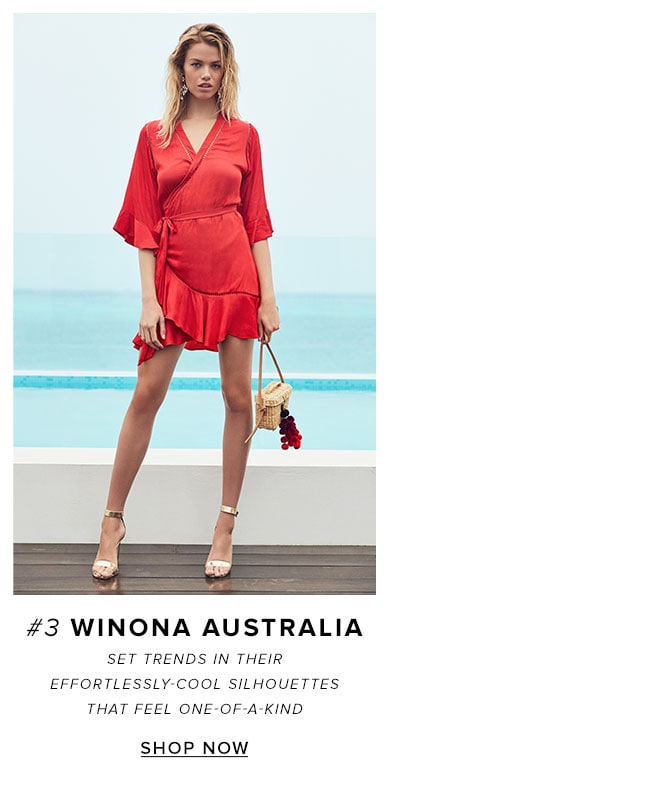 3 Winona Australia. Set trends in their effortlessly-cool silhouettes that feel one-of-a-kind. Shop the brand.