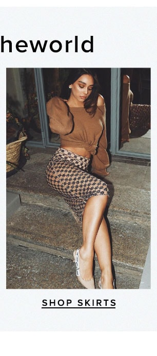As seen on Revolvearoundtheworld. Shop Skirts.
