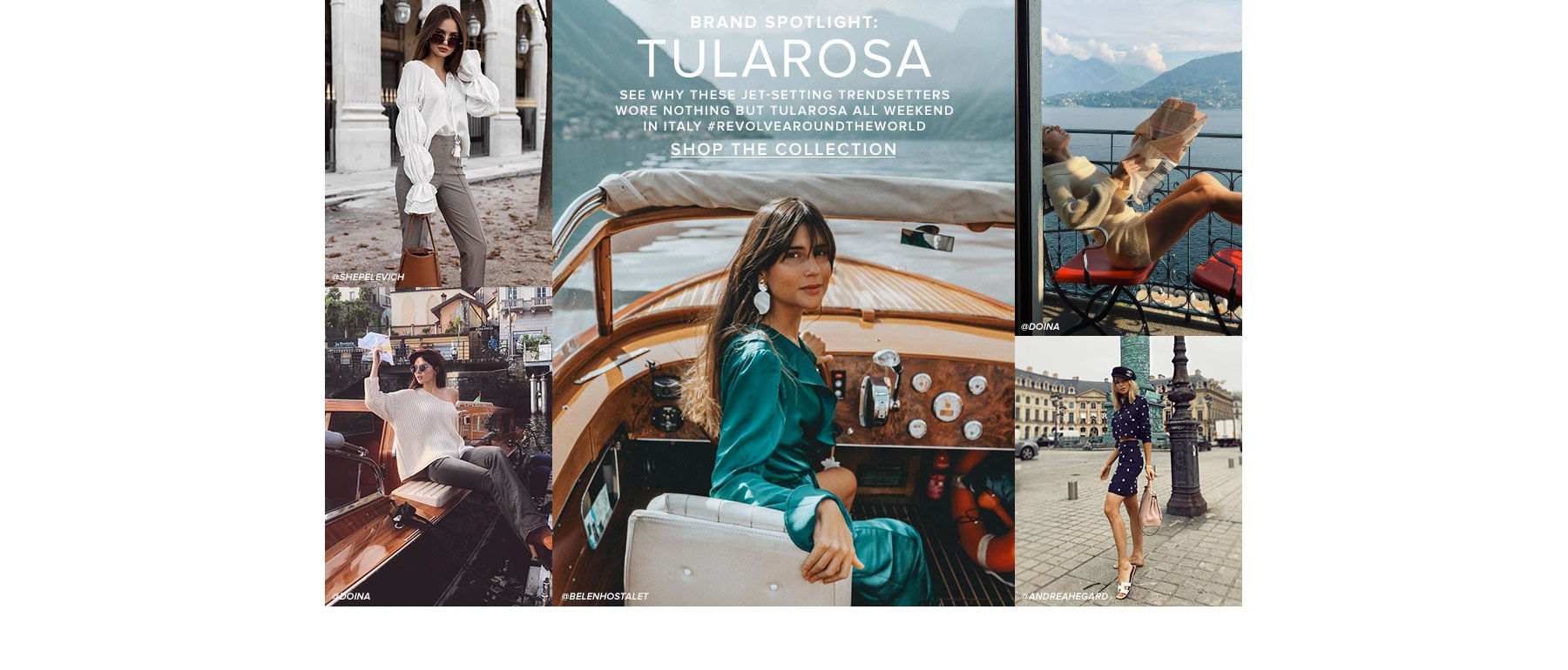 Brand Spotlight: Tularosa. See why these jet-setting trendsetters wore nothing but Tularosa all weekend in Italy REVOLVEaroundtheworld. Shop the Collection.