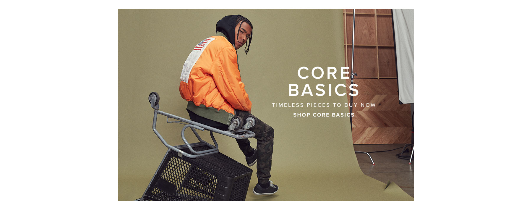 Core basics. Timeless pieces to buy now. Shop core basics.