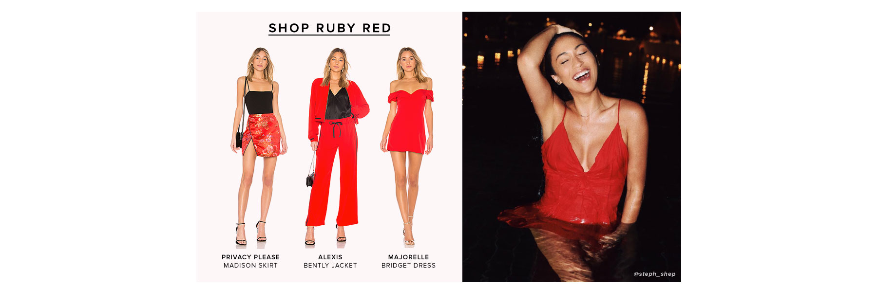 Pink + Red. Can't take our eyes off these hues. Shop Ruby Red.