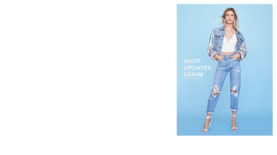 Shop updated denim.