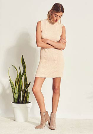 Knit Sleeveless Mock Neck Dress