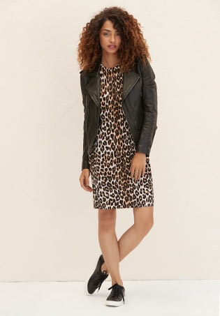 Marla Cheetah Print Sweater Dress
