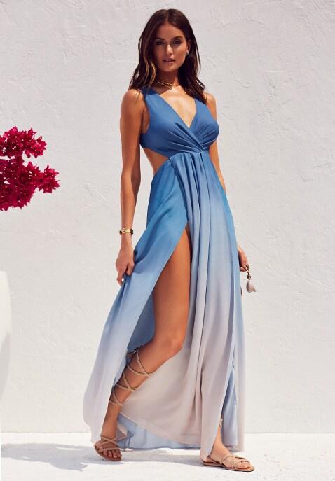 x Revolve Caribbean Ombre Maxi Dress