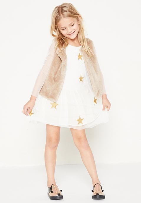 Kids Misty Star Patched Dress