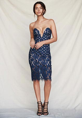 Cassia Strapless Dress