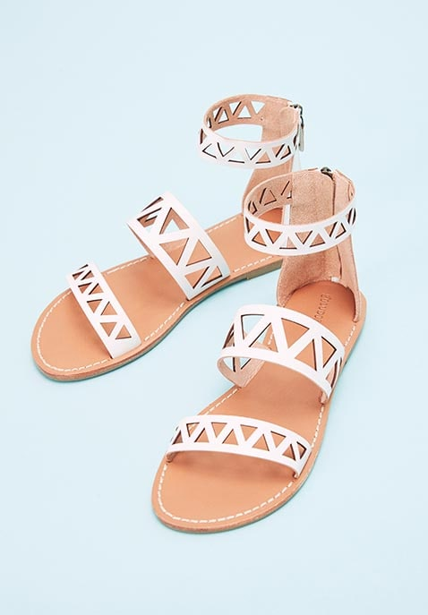 Geo Laser Cut Band Sandal