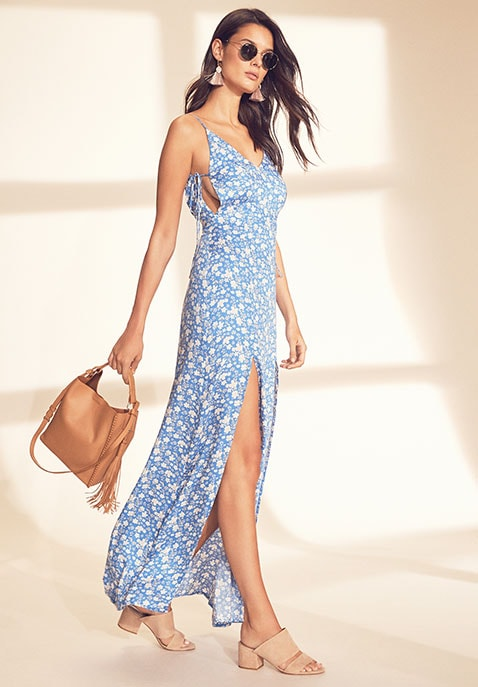Kena V Neck Maxi Dress