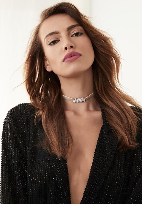 Monarch Mini Velvet Choker