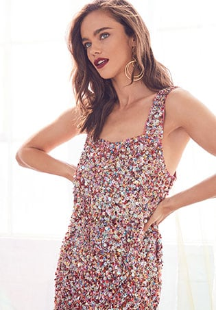 ROBE À SEQUINS GINA
