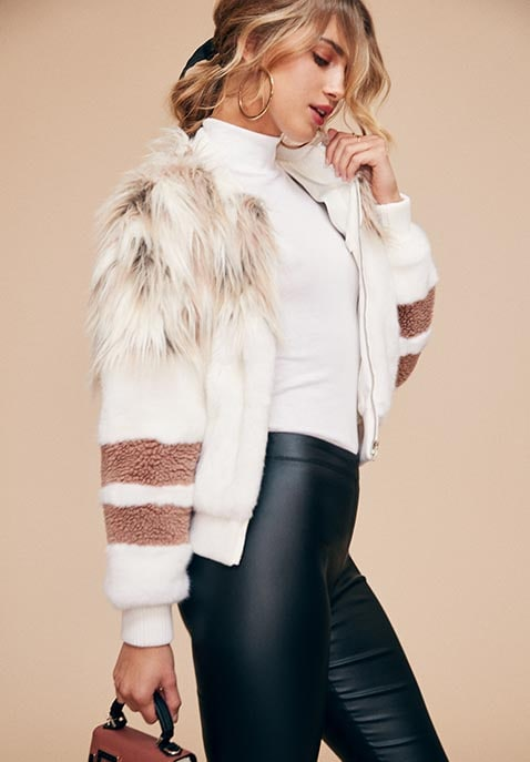 The Bella Faux Fur Bomber