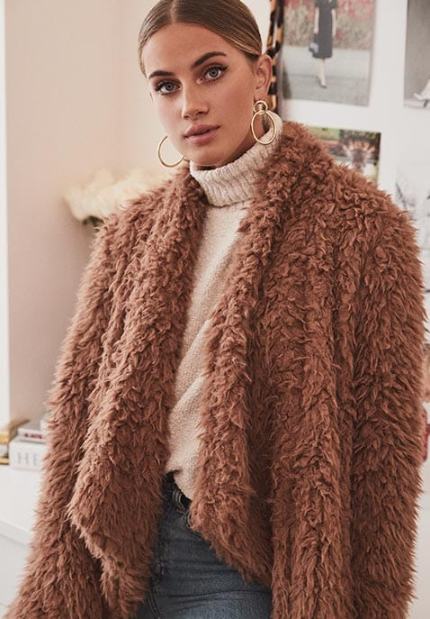 x REVOLVE Teddy Shag Coat