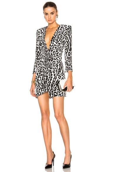 Leopard Crepe Dress