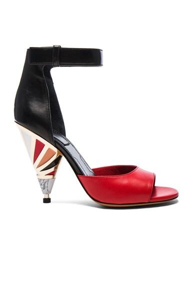 Leather Multicolor Heels