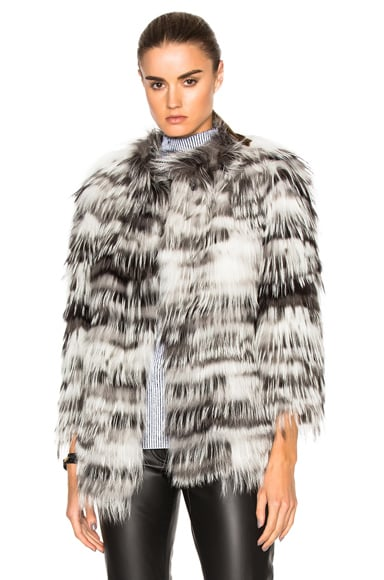 Fox Fur Jersey Jacket