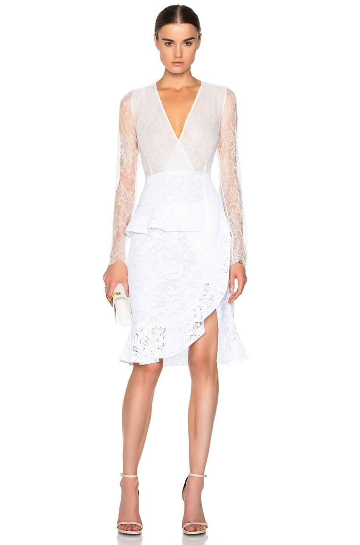 Altuzarra Farley Lace Dress In White Jinnie Femme