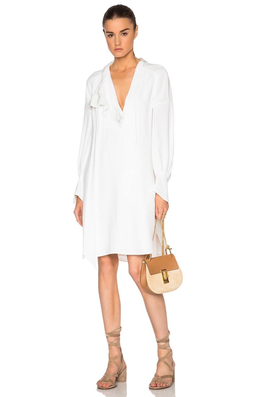 Chloe Light Cady Shirt Dress in White