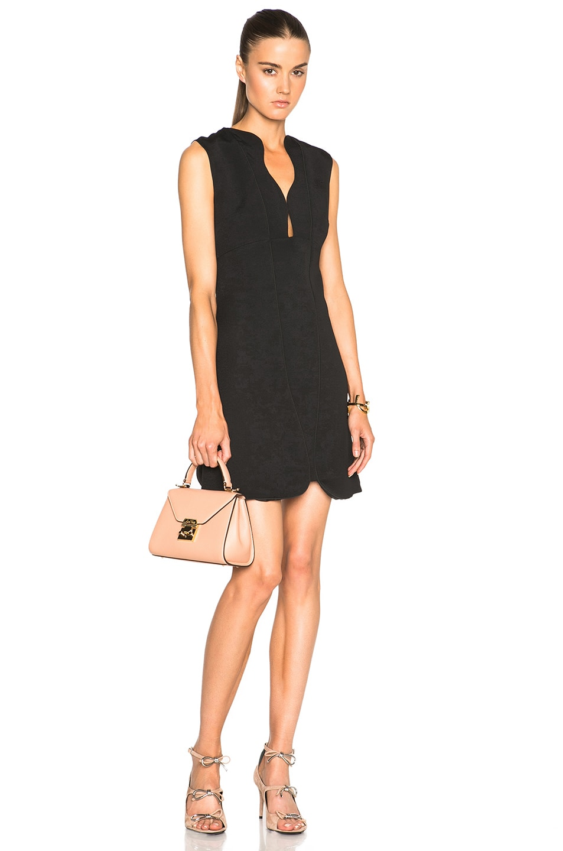 Giambattista Valli Structured Cady Dress in Black