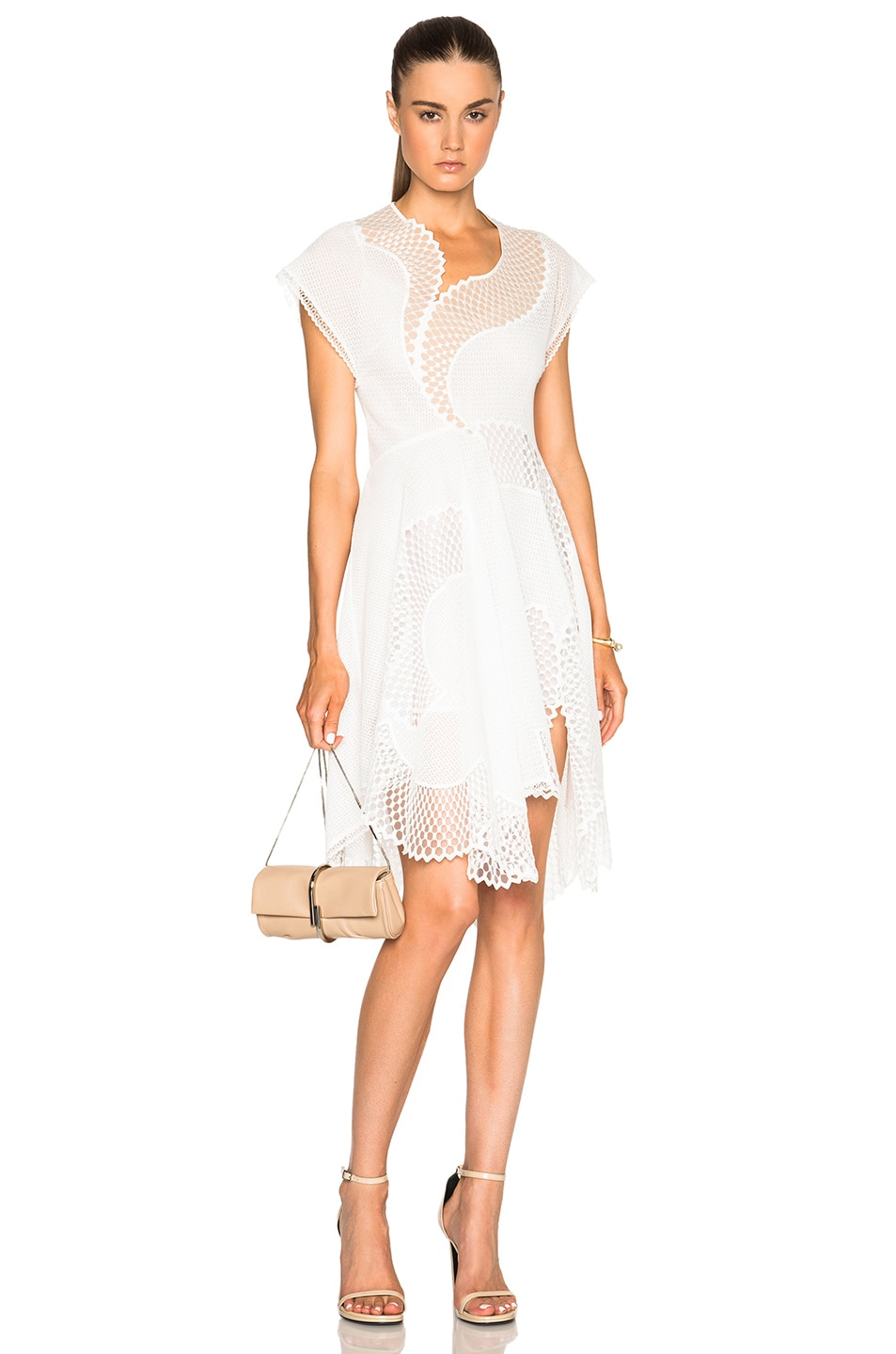 Stella McCartney Clotilde Mesh Dress in White