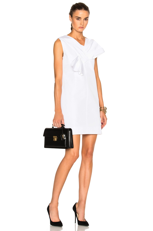 Victoria Victoria Beckham Twist Bow Dress in White
