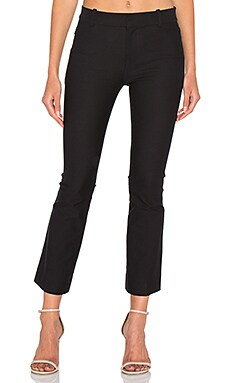 Cropped Flare Trouser in Black