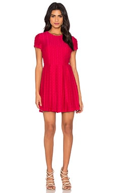 Pleated Flare Dress in Horizon Pink