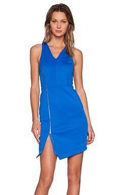 V-Neck Bodycon Dress in Azure Sky