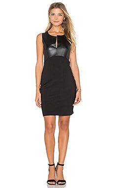 Ponte Bodycon Dress in Schwarz