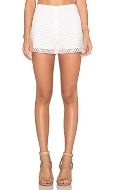 Lace Overlay Short in Cloud