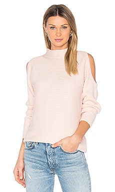 Cold Shoulder Sweater in Rose Buff