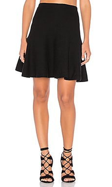 Flounce Skirt in Rich Black