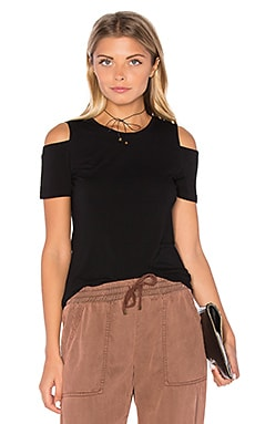 Cold Shoulder Top in Rich Black