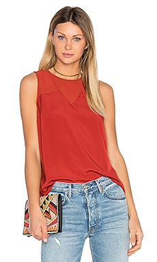 Chiffon Insert Tank in Maple Leaf