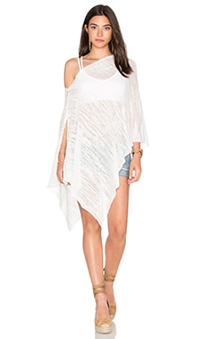 Iggy Crop Poncho in Chalk
