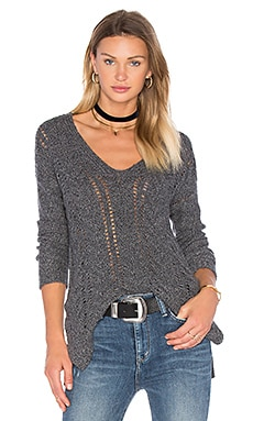 Modanna V Neck Sweater in Pepper