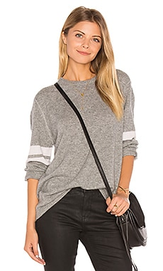 Adrina Oversized Sweater in Pewter and Bone