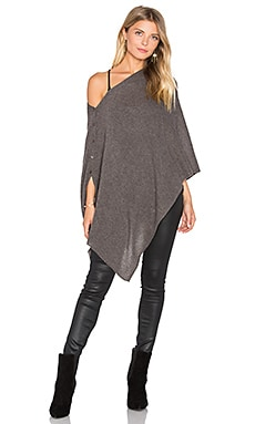 Chumash Solid Poncho in Cocoa