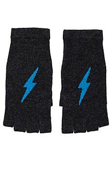 Tahlia Cashmere Gloves in Cinder & Mykonos Lightning Bolt