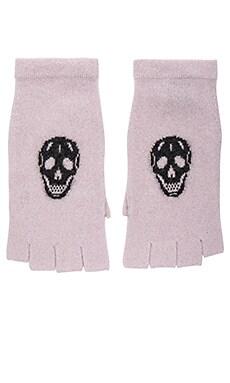 Skull Gloves in Flower & Charcoal Skull
