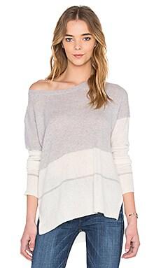Reilly Stripe Sweater in Powder Grey & Chalk Stripe