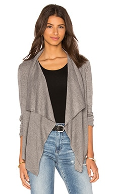 Rosanna Drape Front Cardigan in Heather Grey