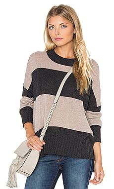 Toni Stripe Cashmere Sweater in Charcoal