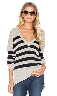 Monroe V Neck Sweater in Hazel and Black